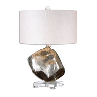 Everly 26 inch 100 watt Silver Table Lamp Portable Light