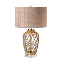 Uttermost Foiano 1 Light Table Lamp in Polished Nickel 26610-1