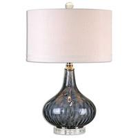 Uttermost 26611-1 Sutera 26 inch 150 watt Polished Nickel Table Lamp Portable Light