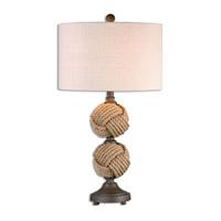 Uttermost 26615-1 Higgins 29 inch 150 watt Rust Brown Table Lamp Portable Light