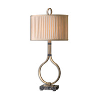 Uttermost Cusano 1 Light Table Lamp in Brushed Brass 26620-1