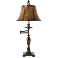 Romina 27 inch 100 watt Distressed Antique Bronze Table Lamp Portable Light