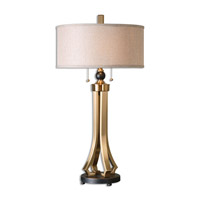 Selvino 33 inch 100 watt Brushed Brass Table Lamp Portable Light