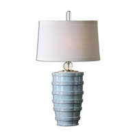 Uttermost 26638 Sassinoro 33 inch 150 watt Light Blue Table Lamp Portable Light thumb