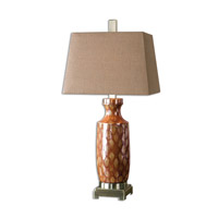 Uttermost Aguilar 1 Light Table Lamp in Rust Red 26648