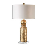 Uttermost Lorenzello 1 Light Table Lamp in Gold Leaf 26653-1