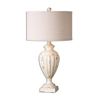 Uttermost Tavernola 1 Light Table Lamp in Crackled Ivory 26659-1