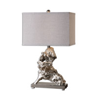Uttermost 26662-1 Rilletta 28 inch 150 watt Metallic Silver Table Lamp Portable Light