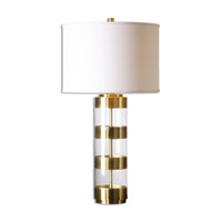 Uttermost 26669-1 Angora 31 inch 150 watt Brushed Brass Table Lamp Portable Light