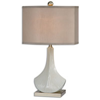 Uttermost 26676-2 Cuchara 25 inch 100.00 watt Antiqued Ivory with Rust Tan Undertones Table lamps Portable Light, Set of 2