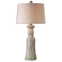 Uttermost 26678-2 Cloverly 31 inch 150.00 watt Burnished Gray with Antiqued Ivory Wash Table lamps Portable Light Set of 2