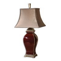 Rory 33 inch 100 watt Burgundy Ceramic Table Lamp Portable Light