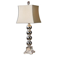 Uttermost Sachie Stacked Spheres Table Lamp in Silver Plated Stacked Spheres 26689