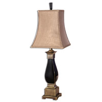 Uttermost Benedict Table Table Lamp in Black Ceramic Bronze Detail 26697
