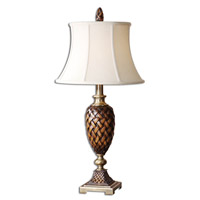 Uttermost Weldon Table Table Lamp in Weathered Wood Tone 26715