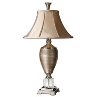 Abriella 33 inch 100 watt Metallic Gold Table Lamp Portable Light