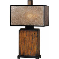 Uttermost Sitka 1 Light Lamps in Rustic Mahogany 26757-1