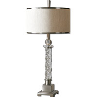 Uttermost Campania 1 Light Table Lamp in Brushed Aluminum 26762-1