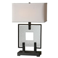 Uttermost Pondera Black Square Table Lamp in Black Square 26763-1 photo thumbnail
