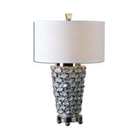 Uttermost Petalo 1 Light Table Lamp in Pearl Gray 26769-1
