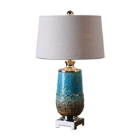 Uttermost Manzu 1 Light Table Lamp in Blue Ceramic 26771-1