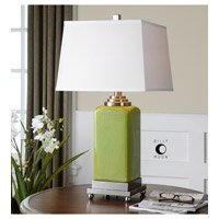 Uttermost Piven 1 Light Table Lamp in Green 26774