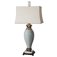 Uttermost 26783 Rossa 39 inch 150 watt Crackled Light Blue Ceramic Table Lamp Portable Light