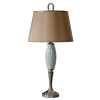 Uttermost Lilia Table Lamp in Crackled Light Blue Ceramic 26788