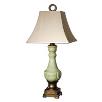 Uttermost Ceralto Table Lamp in Antiqued Mossy Green Glaze 26795