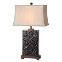 Uttermost Lavinta Table Lamp in Dark Bronze Wash 26797