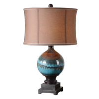 Uttermost Padula Table Lamp in Glossy Blue Ceramic 26825-1