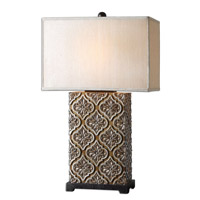Uttermost 26829-1 Curino 31 inch 100 watt Golden Bronze Stain Table Lamp Portable Light
