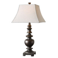 Uttermost 26830 Verrone 33 inch 150 watt Lightly Distressed Textured Dark Bronze Table Lamp Portable Light thumb