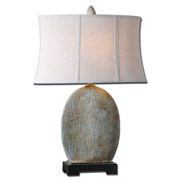 Uttermost Seveso 1 Light Table Lamp in Light Blue Glaze 26837-1