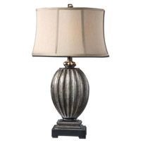 Uttermost Diveria 1 Light Table Lamp in Antiqued Silver Champagne Leaf 26840