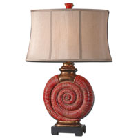 Uttermost Norrisia 1 Light Table Lamp in Distressed Red Glaze 26847 thumb
