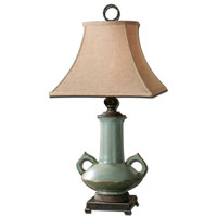Uttermost Vamano 1 Light Table Lamp in Distressed Antiqued Sea-Foam Glaze 26853 thumb