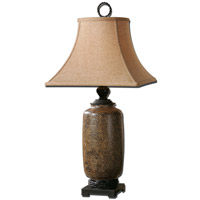 Uttermost Gravina 1 Light Table Lamp in Distressed Chocolate Glaze 26854