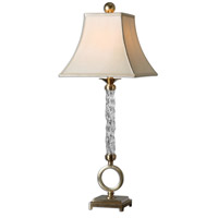 Uttermost Aversa Table Lamp in Wavy Glass Column 26858