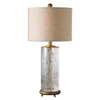 Uttermost 26860-1 Tomi 31 inch 150 watt Water Glass Base Table Lamp Portable Light