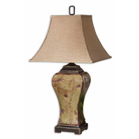 Porano 36 inch 150 watt Mossy Green Glaze Table Lamp Portable Light