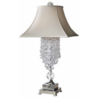 Fascination 33 inch 60 watt Silver Plated Table Lamp Portable Light