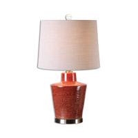 Uttermost 26903 Cornell 28 inch 150 watt Brick Red Table Lamp Portable Light