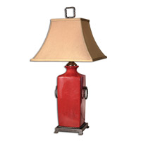 Uttermost Rocco Table Table Lamp in Crackled Tomato Red 26907