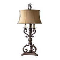 Hope 36 inch 150 watt Mahogany Bronze Table Lamp Portable Light