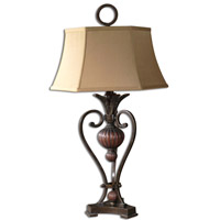 Andra 37 inch 150 watt Golden Bronze Table Lamp Portable Light