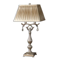 Uttermost Floriane Table Table Lamp in Antiqued Champagne Silver Leaf 26924