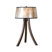 Maloy 28 inch 60 watt Wood Table Lamp Portable Light
