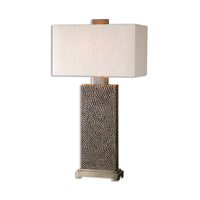 Canfield 32 inch 150 watt Coffee Bronze Table Lamp Portable Light