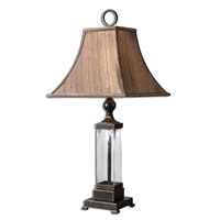 Bartlet 31 inch 100 watt Mouth Blown Glass Table Lamp Portable Light